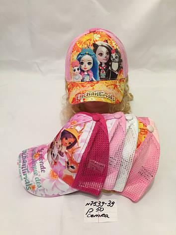 Стильная летняя детская кепка для девочки р.52 100% cotton -сетка, фото 2