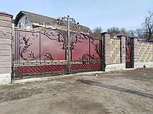 Ворота кованые Марсель, фото 3