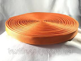 Тесьма сумочная цвет оранжевый 25 мм