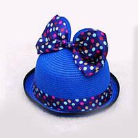 """Летняя детская шляпка """"Минни"""" - синий"""