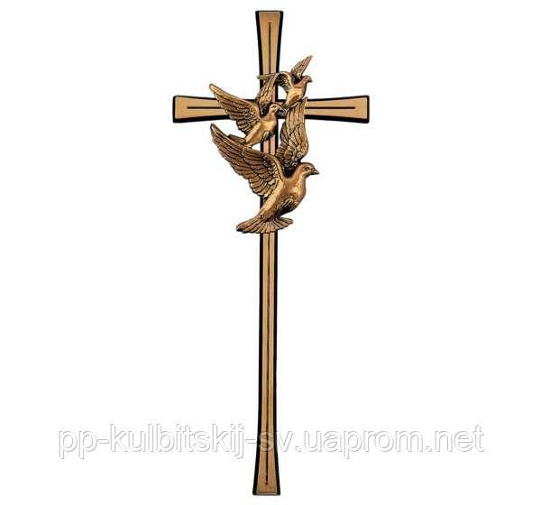 Бронзовий хрест на памятник гранітний J2654/40