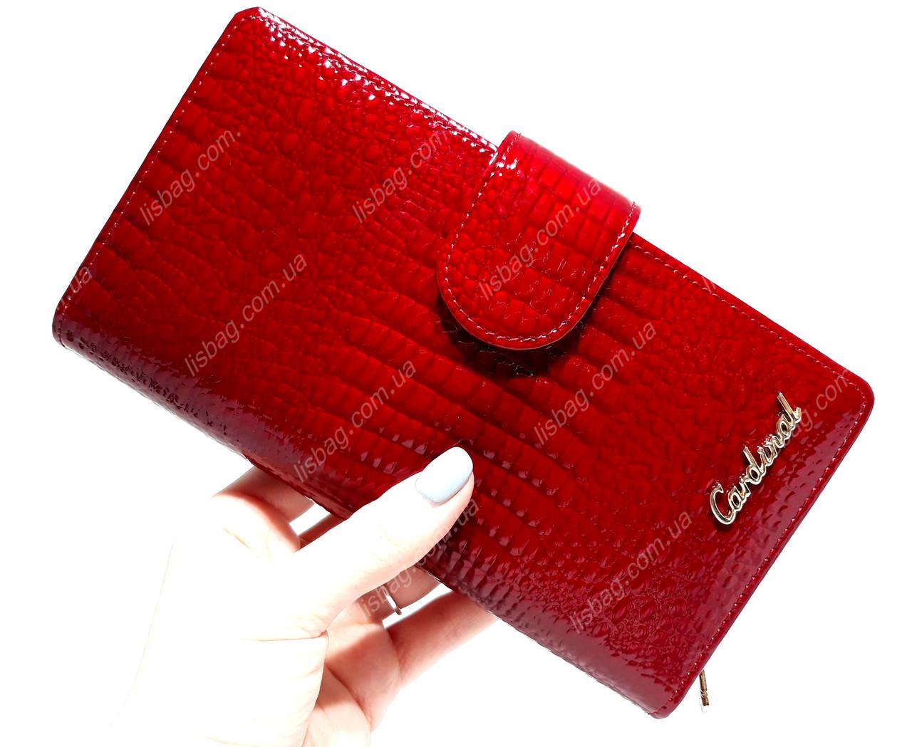 2ad7ccfa2f69 Женский большой, классический кожаный кошелек Cardinal , Красный : продажа,  цена в ...