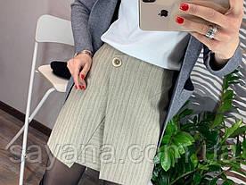Женская стильная юбка из коттона с декором. Д-24-0219