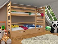 Кровать двухъярусная трансформер Твейс массив дерева усиленная модель без ящичков и бортиков, фото 3