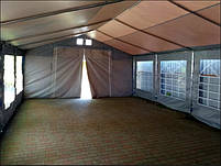 Шатер 5х10 ПВХ для летнего кафе или бара, торговый шатер, павильон, ангар, фото 6