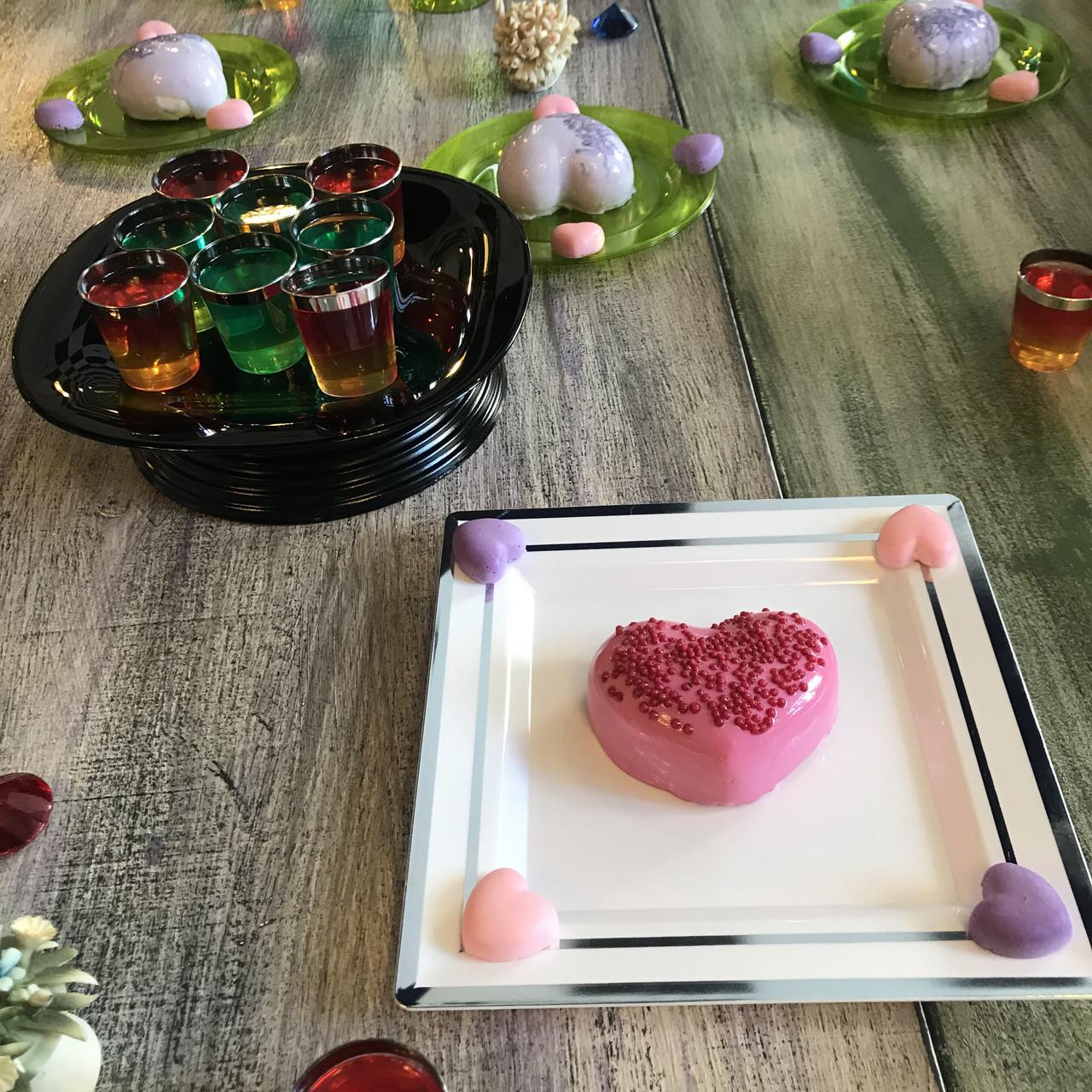 Сервировочная посуда тарелки стекловидные для фуршета банкета презентаций выставки PARTY CFP 6шт/уп 190мм