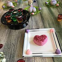 Сервировочная посуда тарелки стекловидные для фуршета банкета презентаций выставки PARTY CFP 6шт/уп 190мм , фото 1