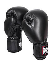 Боксерские перчатки PowerPlay 10 OZ Черный