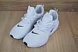 Мужские кроссовки N1ke Presto React белые/черный значок. Живое фото (Реплика ААА+), фото 4