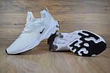 Мужские кроссовки N1ke Presto React белые/черный значок. Живое фото (Реплика ААА+), фото 5