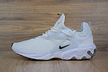 Мужские кроссовки N1ke Presto React белые/черный значок. Живое фото (Реплика ААА+), фото 6