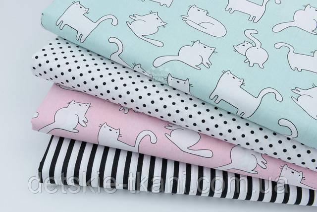 хлопковая ткань с котами