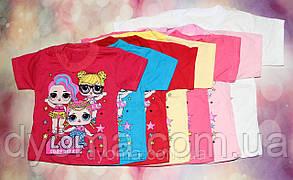 """Детская футболка """"L. O. L."""" для девочек, фото 2"""