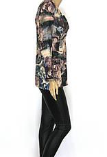 Жіночий короткий піджак з квітковим принтом Tree club , фото 2