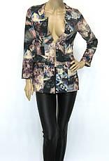 Жіночий короткий піджак з квітковим принтом Tree club , фото 3