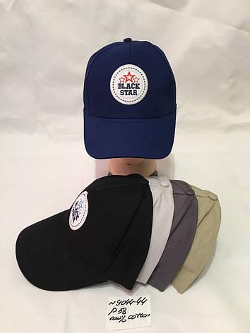 Подростковая однотонная кепка  для мальчика Black Star р.58 100% cotton, фото 2