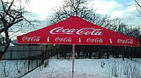 Большой зонт 4х4 торговый для кафе и бара, квадратный, тросовый, садовый, барный зонт