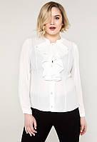 ebbd8761941 Шифоновая блуза женская нарядная блузка больших размеров (батал)