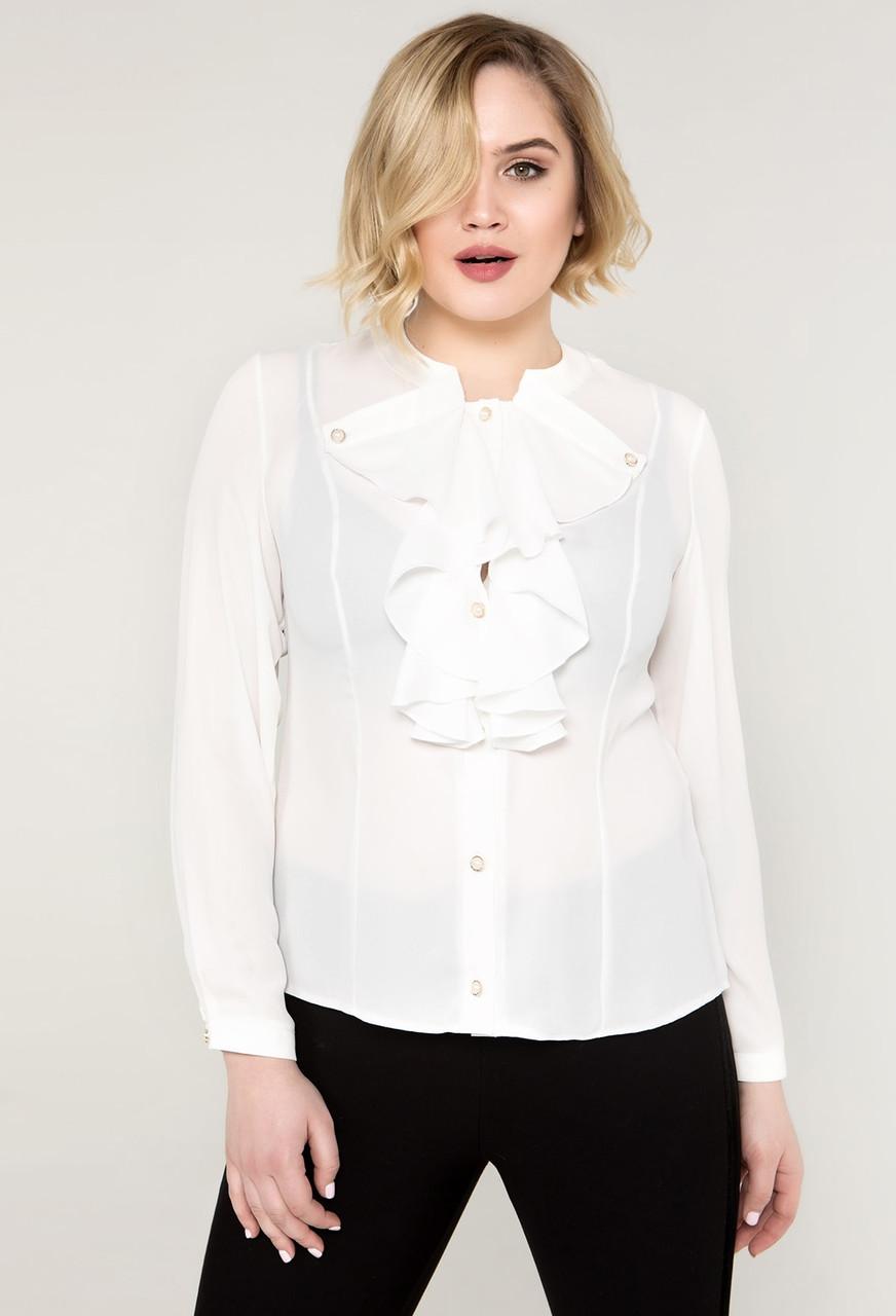 18515385e17 Шифоновая блуза женская нарядная блузка больших размеров (батал ...