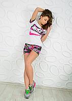 Спортивный костюм футболка и шорты камуфляж реплика nike, фото 1