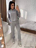 Костюм женский повседневный стильный свитшот с капюшоном и штаны с карманами Dl1340, фото 1