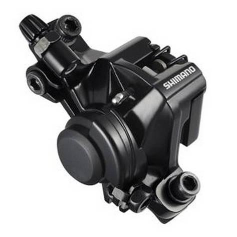 Гальмівний каліпер Shimano BR-M375 механіка ОЕМ (адаптер R160PS) чорний, фото 2
