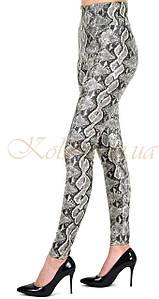 Лосины женские эко-кожа кобра классика размеры 42 44 46