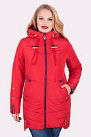 Весенняя женская куртка Софт Водоотталкивающая плащевка Размеры 50-60