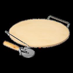 Камень для пиццы с подставкой и ножом, круглый, 33 Browin (Biowin)