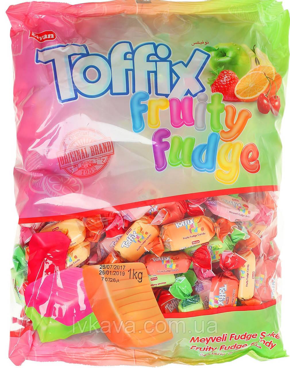 Жевательные конфеты Toffix  fruity fudge , 1000 гр