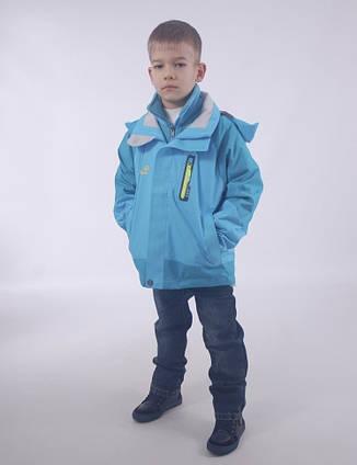 Детская  демисезонная куртка+флисовая кофта для мальчика от ZHONG GUO 2Bj, 110-158 рост, фото 2