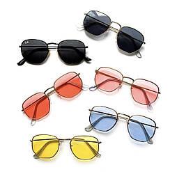Многоугольные солнцезащитные очки унисекс в расцветках v4801