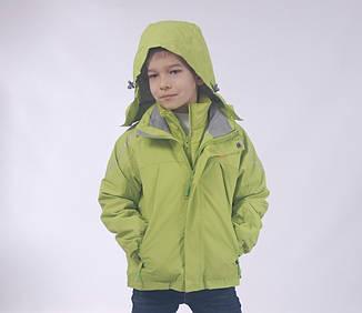 Детская  демисезонная куртка+внутренняя куртка ветровка для мальчика от ZHONG GUO 1Bj, 120-160 рост, фото 2
