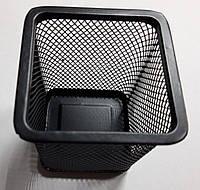 """Подставка для ручек метал. сетка """"Квадратная"""" черная 8*8*9,5см DSCN3545_BK"""
