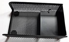 Подставка для бумаг и мелочей металлическая сетка с резиновыми ножками