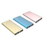 Powerbank 8000mAh PZX-C128, USB-1A + mini USB +кабель USB micro, LED фонарик, Gold, Blister-BOX