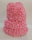 Мишка 40 см с коробкой из 3D фоамирановых роз Teddy de Luxe / искусственных цветов 3д, пенопласт Тедди розовый, фото 7