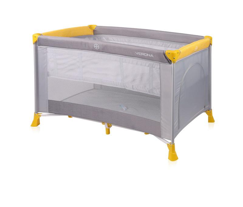 Кровать-манеж VERONA 2 GREY&YELLOW