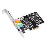 Звуковая карта PCI-E - 5.1CH (c-media 8738), 3D 4.1, Windows 98/ Windows2000/XP/NT win7 32/64, BOX