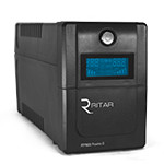 ИБП Ritar RTP800 (480W) Proxima-D, LCD, AVR, 3st, 2xSCHUKO socket, 1x12V9Ah, plastik Case