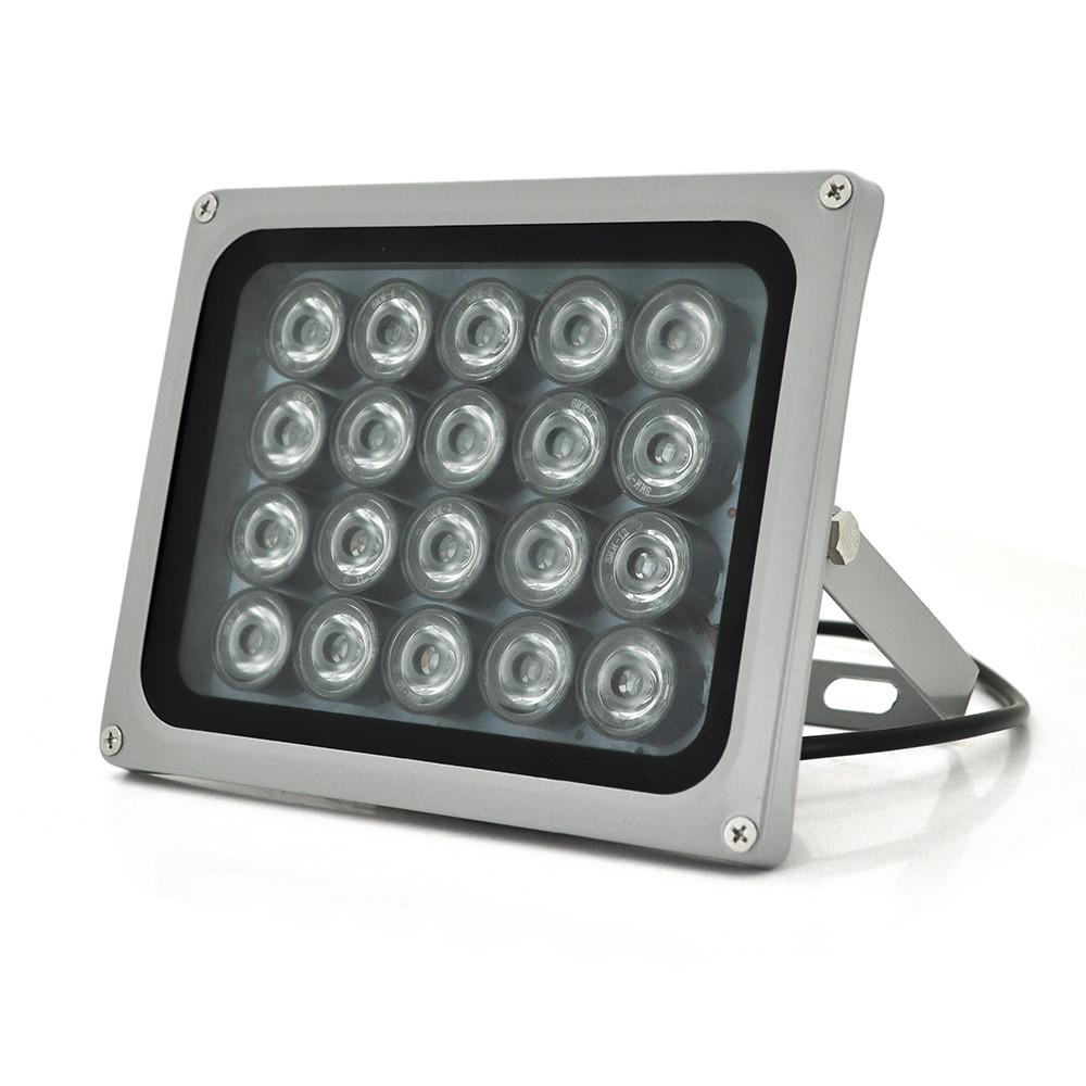 ИК прожектор YOSO 12V 24W, 20LED, IP66, 850Нм, угол обзора 60°, линза 8мм, дальность до 80м, 180*115*140мм, BOX