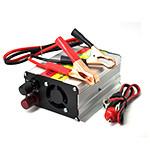 Инвертор напряжения N/N 500, 300Вт, 12/220 с аппроксимированной синусоидой, зарядка аккумулятора 1А, 1 евророзетка, клемы + провода