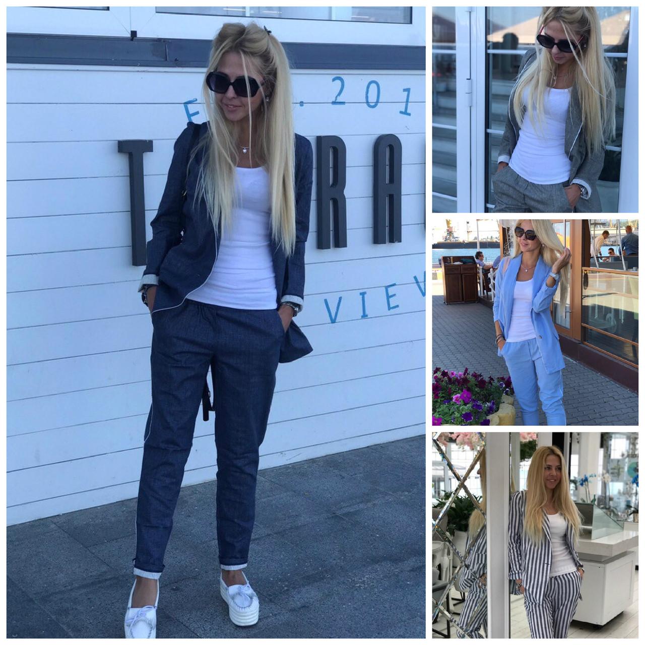 10839cceedd4 Льняной женский костюм пиджак с брюками 17882 - Интернет - магазин одежды  Mixton в Одессе