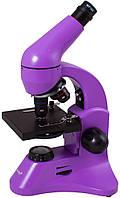 Микроскоп LEVENHUK Rainbow 50L Plus фиолетовый