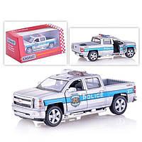 "Машинка «Kinsmart» KT5381WPR CHEVROLET SILVERADO ""POLICE"", фото 1"
