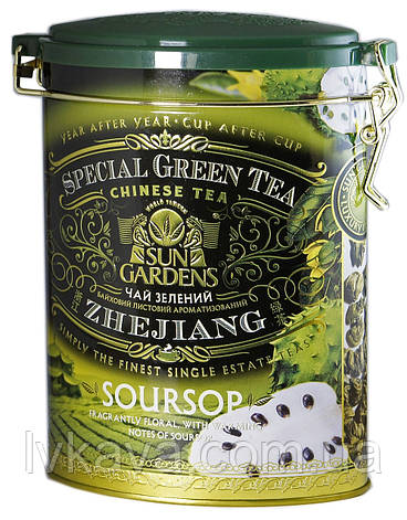 Чай зеленый Soursop Sun Gardens ,ж\б, 100 гр, фото 2