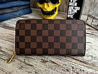dd6843252bd4 Портмоне (кошелек, клатч) Louis Vuitton Луи Витон в клетку коричневый  (реплика)