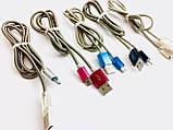 USB кабель в металлической  оплетке B-28/ JS-869 Micro,iphpne (1000 шт/ящ), фото 4