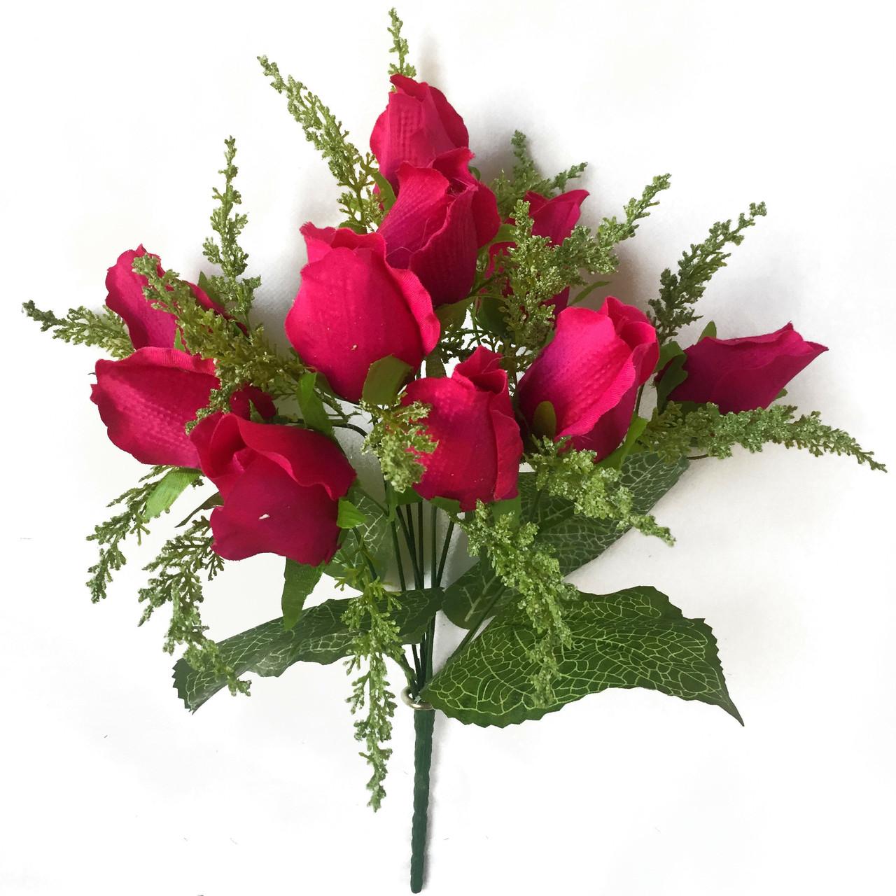 Роза бутон 10 голов  35 см(12 шт в уп)