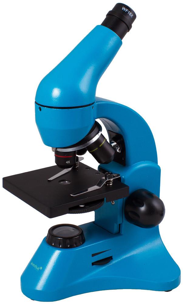 Микроскоп LEVENHUK Rainbow 50L Plus лазурный